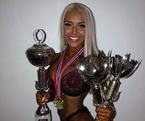 GULL: Bettina Bjørnå vant NM-guill på første forsøk i Oslo konserthus i helgen.