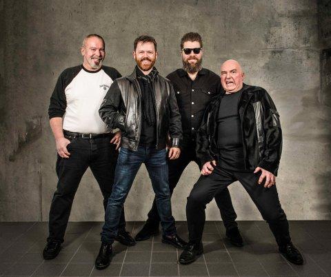 DIVIN: DUCKS: F.v. Ferdinand Berentzen (gitar/kor), Øystein Rudjord (trommer), Kenneth Gran Sandberg (bass/kor) og Morten Hjøllo (gitar/vokal). (Pressefoto).