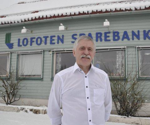 Fusjon: Banksjef Werner Martinsen i Lofoten Sparebank er spent på utfallet av samtalene om fusjon med Harstad Sparebank.  FOTO: MAGNAR JOHANSEN