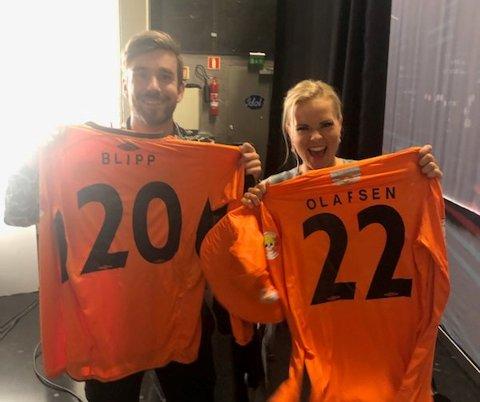 Stian Blipp og Helene Olafsen er blitt fans av Ballstad UIL.