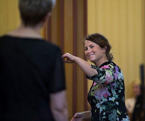KORGULL: Marit Tøndel Bodsberg Weyde og Den norske Studentersangforening gjorde det skarpt i Trondheim.