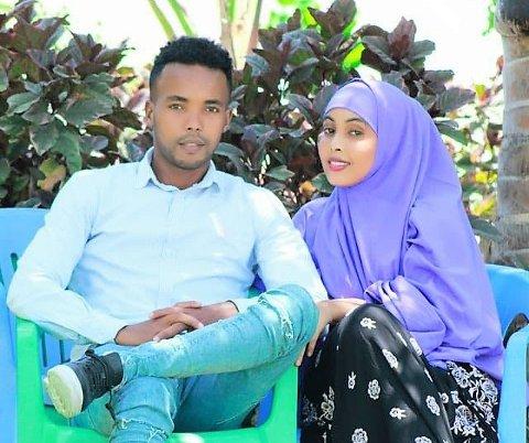 LYKKELIG GIFT: Feisal Ahmed Hassan og kona Hani bodde sammen et år før de ble truet på livet og Feisal flyktet tilbake til Norge.