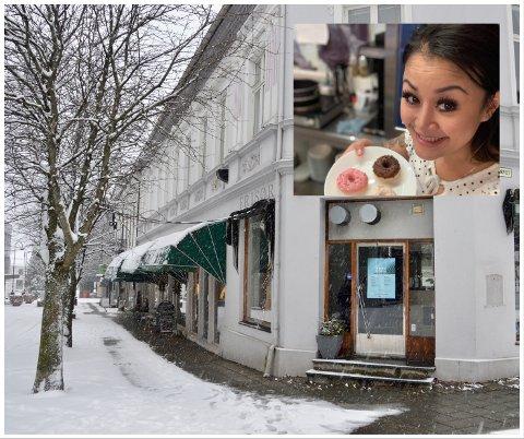 SATSER I LARVIK: – Jeg vet hva jeg vil og jeg vet hva jeg kan, sier Christin Kalmar, som sammen med mann og fem barn flytter til Larvik for å starte noe nytt.