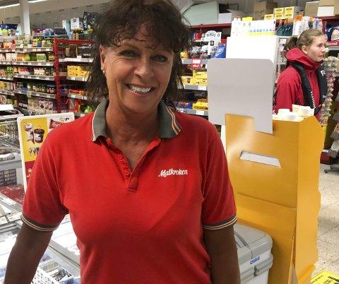 Matkroken i Kilsund: Butikksjef Gro Skeimo kan glede seg over et rekordresultat i dagligvarebutikken i fjor. Hun takker de ansatte og kundene. Arkivfoto