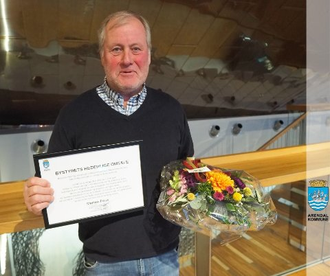 Landbruksrådgiver i Arendal kommune, Morten Foss, fikk hederlig omtale i går.