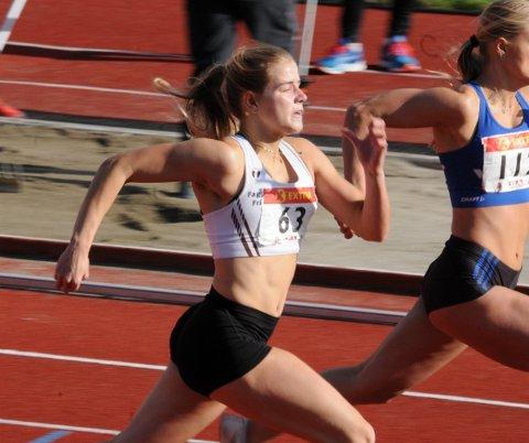 Rask: Det går unna når Laura Tietje Johanna van der Veen løper. I helga deltar hun i UM.