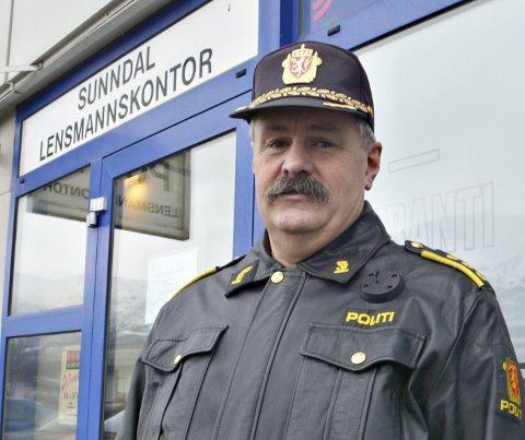 Kriminalitet: Lensmann Halvard Vermøy kan fortelle om et noen lunde rolig koronaår.