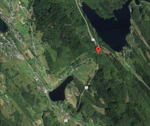 Den raude pilen viser Furubergtunnelen der ulukka har funne stad.
