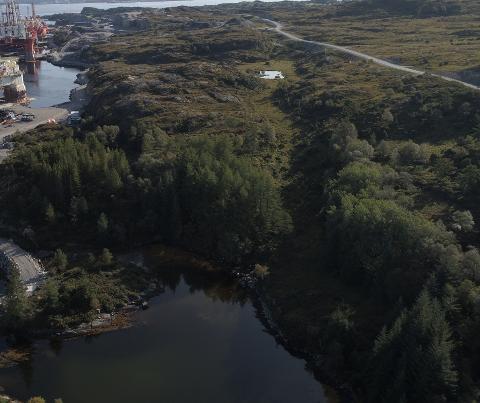 Her skal Viking Aqua skal byggje deira landbaserte oppdrettsanlegg, i Skipavika Næringspark på Sandøyna.