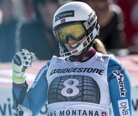 Maria Therese Tviberg var tilbake i verdenscupen etter to år ute med skader under gårsdagens storslalåm i Spindleruv Mlyn. ARKIVFOTO: NTB scanpix