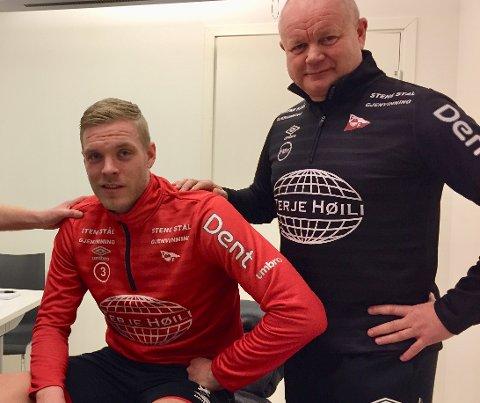 FORTSETTER SAMMEN: Per-Mathis Høgmo signerte Mads Nielsen før 2018-sesongen. Nå forhandles det om en forlengelse av kontrakten.