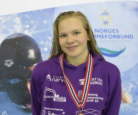 I norgestoppen: Ingeborg Vassbakk Løyning har svømt seg inn i blant Norges beste.