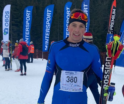 STERKT LØP: Anders Sønsteby Flaagen fra SÅS staket inn til 6. plass i Holmenkollmarsjen.