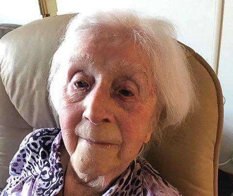 100 år: Solveig Hansen er 100 år mandag 15. juni.