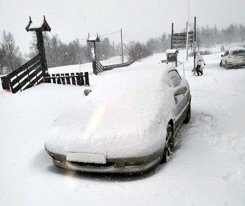 VINTER: Slik så det ut på Torsetlia fredag formiddag.