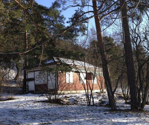 Stengt: Snø og sol lyser opp Café Utsikten, men ingen vet når lukten av kaffe og vafler igjen kan sige ut av bygget. Foto: Aina Moberg