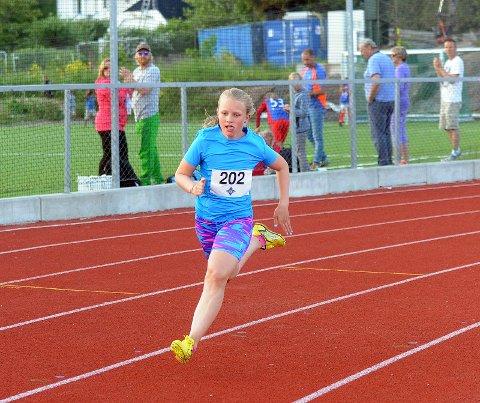 FULL GASS: Milla G. Andresen ga alt i sine heat, og vant likegodt alle tre. Foto: Solfrid Therese Nordbakk