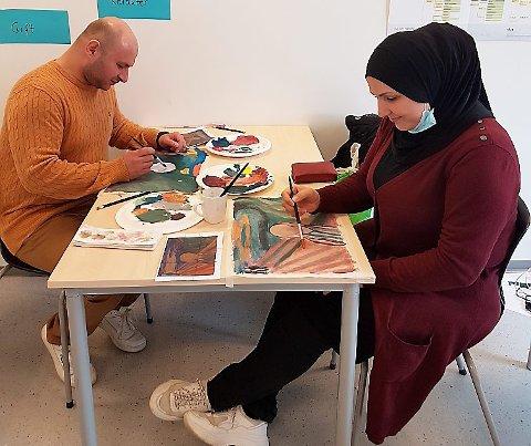 Kunstprosjekt ved Otta læringssenter.