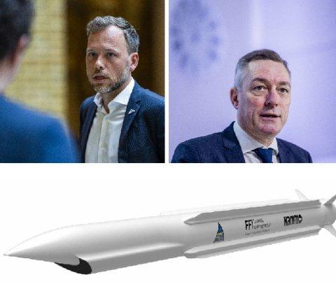 I HETLUFT: SV-leder Audun Lysbakken og flere andre politikere på venstresiden går nå ut mot forsvarsminister Frank Bakke -Jensen og utviklingen av det nye hemmelige prosjektet på Nammo.