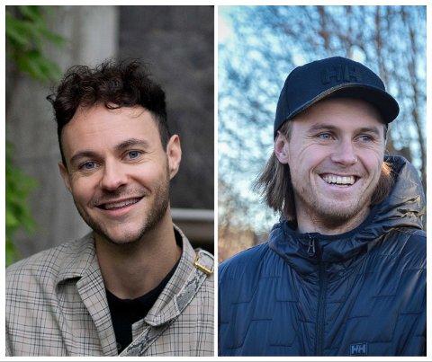 TO FRA LARVIK: Gisle Agledahl (t.v.) og Mats Grimsæth er nominert til gjev pris. Vinneren kåres i midten av oktober.