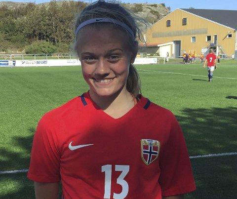 STORT: Mathilde Hauge Harviken fra Elverum og Norges J16-landslag klinte til og vant det åpne nordiske mesterskapet i Finland. (Foto: Privat)
