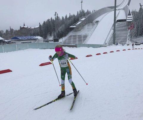 Liten klubb gjør store ting: Eline Ekroll vant jenter 11 under Oslo skifestival i helgen. fOTO: bERGER il