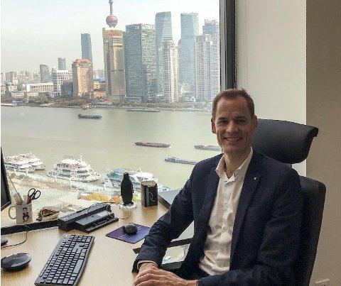 MYE ROLIGERE: Corona-smittefaren setter sitt preg, også på dagliglivet i Kinas største by, Shanghai, hvor Jotuns Morten Sten Johansen har sitt kontor.