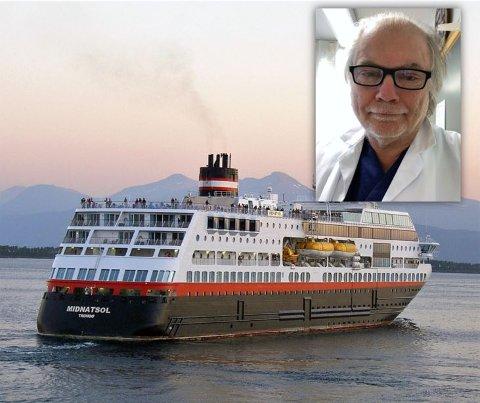 Karantene: 337 personer må i karantene etter smitteutbruddet på Hurtigruten. Kommuneoverlege Per Einar Jahr (innfelt) sier at ingen fra Valdres er berørt, så langt han kjenner til.