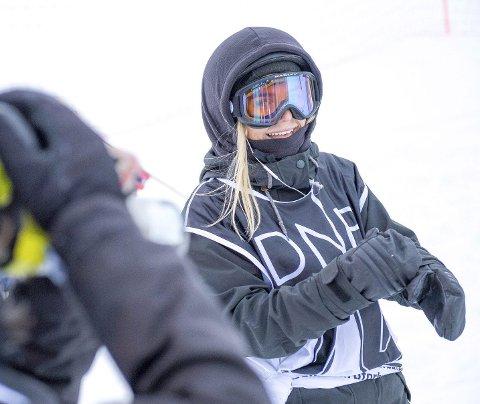 Seiersgliset: Det er sjelden man ser bergensk suksess i snowboard-sirkuset. Andrea Straume (25) åpnet Norgescupen med seier på søndag!