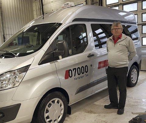 Frode Børven er styremedlem Norheimsund Øystese Taxi, som nå bytter navn til 07000 Hardanger Taxi.