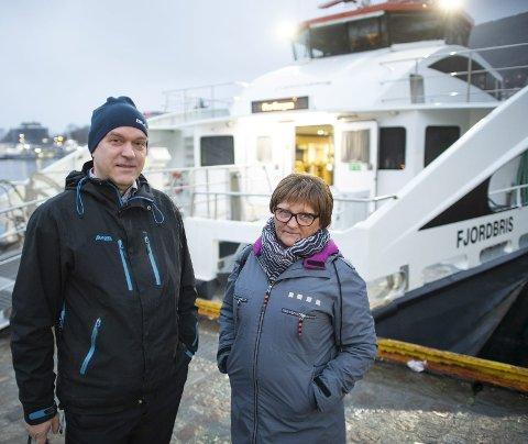 – Det handler ikke bare om å rekke båten, den er ofte full i tillegg, sier pendler og austevolling Arve Jostein Bruntveit. Foto: Emil Breistein