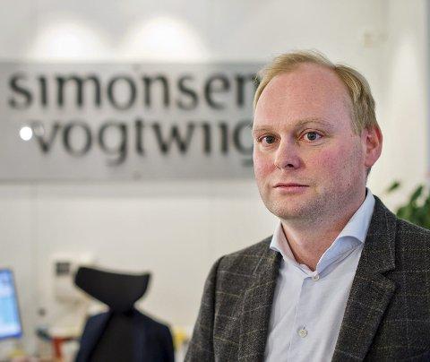 Bjørn Åge Hamre i advokatfirmaet Simonsen Vogt Wiig forteller at han politianmeldte forholdet da han tidligere i år avdekket en falsk e-post.