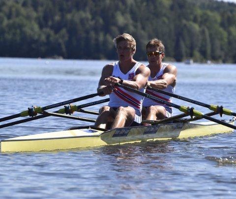 Osingen Erling Øyasæter (t.h.) og makker Petter Tufte har fått plass i VM-troppen som reiser til Linz i slutten av august.