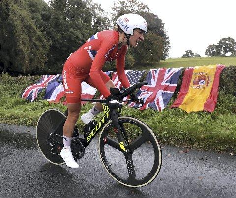 Vita Heine ble nummer fire i temporittet i EM tidligere i år, men i VM tirsdag var hun sjanseløs.