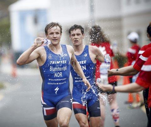 Kristian Blummenfelt og Gustav Iden vil være blant medaljekandidatene til Tokyo-OL. – Vi er ikke så gode at vi kan ta ti dager fri fra svømming her og der, sier Blummenfelt, som derfor holder seg utenlands .FOTO: Wagner Araujo, ITU Triatlon