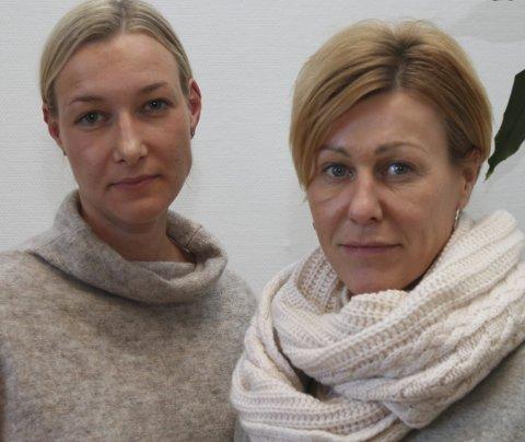 Set strek: Kommuneadvokatane Ida Frøyen Kostøl (t.v.) og Sissel Leni Sundal Nærø godtek tingrettsdommen som seier at Entreprenørservice skal gjere jobben i Industrivegen.foto: liv standal