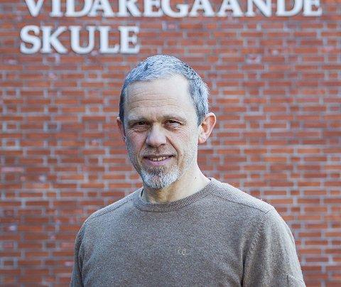 STREIKELEIAR: Stig Johnny Fitje er streikeleiar for Unio, og sit elles som leiar for Utdanningsforbundet Sunnfjord.