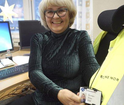 VETERAN: Gunn Vigdis Jenssen har «slitt ut» omkring 15 sjefer siden hun begynte i NSB i 1973. Foto: Fritz Hansen