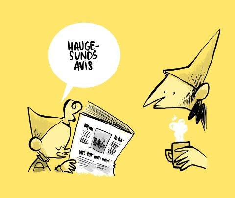 DUNCE: Jens K. Styve, mannen bak serien Dunce er glad for at stripen hans blir fast innslag i Haugesund Avis. Ja, hver dag kommer den på trykk.