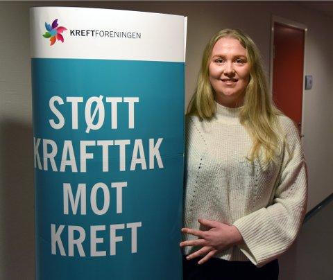 KRAFTTAK: Aksjonsansvarleg i russestyret, Magrete Næs, fortel om stort engasjement for aksjonen i russekullet.