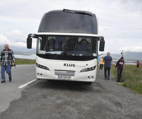 Turisttrafikken: Innovasjon Norge mener Lofoten sliter med utfordringer i sommertrafikken. Destination Lofoten advarer mot å tegne et bilde av Lofoten som stappfull av turister, søppel og lort. illustrasjonsfoto: magnar Johansen