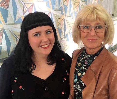 F.v. på rådhustrappen: Victoria Marie Evensen, leder av byutviklingskomiteen i Oslo bystyre, og Asbjørg Javnes Lyngtveit, gruppeleder i Nordstrand bydelsutvalg. Begge for Arbeiderpartiet.