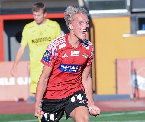 JAAAA: Så mye betydde det for Andreas Østerud å score 7-1-målet mot gamleklubben.