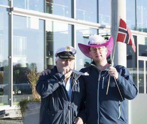 ÅRLIG: Leder Bjørn Dahl og dirigent Knut Øverland I LUMK håper hvert år at folk tar med seg hatter og blåser til konserten.