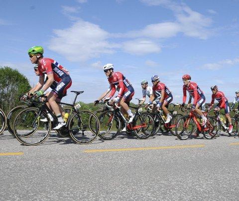 Syklistene bruker den første dagen i Vestfold og Buskerud.