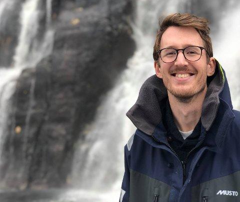 BÅTMANN: Kristian Fallrø er seriegründer. Nå holder han på med sin tredje oppstart, et navigasjonssystem for båter. 32-åringen er opprinnelig fra Nøtterøy.
