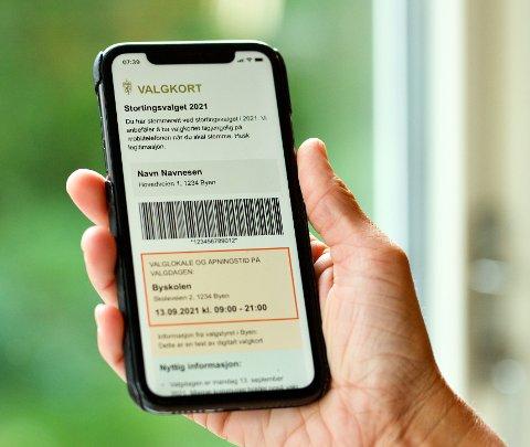 Lettvint: Digitale valgkort kan brukes direkte på mobiletelefonen, og trenger ikke printes ut.