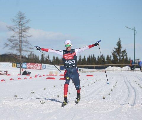 HAR TATT STEG: Martin Kirkeberg Mørk, Drammens BK, hevdet seg blant senioreliten på Beitostølen. Her fra et tidligere renn.