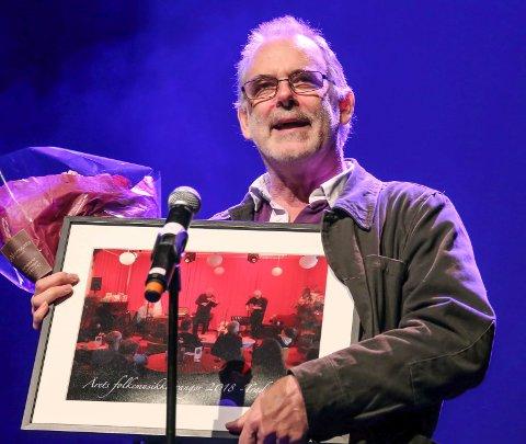 Takket: Richard Burgess måtte takke for arrangørprisen fra FolkOrg lørdag.