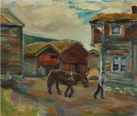 I løpet av få dager har prisen på Kristen Holbø-maleriet «Gammel gaard i Kvikne» fra 1919 mer enn doblet seg.
